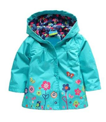Arshiner Girl Baby Kid Waterproof Hooded Coat Jacket Outwear Raincoat Hoodies