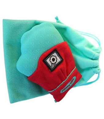 Darlyng & Co. Yummy Mitt Teething Mitten (Red and Turquoise)