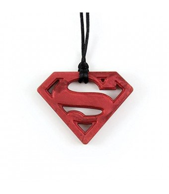 Bumkins Dc Comics Silicone Teething Pendant, Superman Ruby
