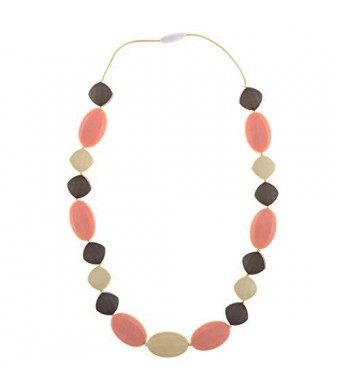Chew-Choos - 'Cutie Pie' Silicone Teething Necklace - Modern Chic Baby Teether (Gossamer Dream)