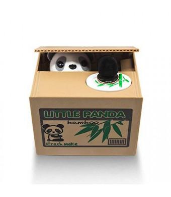 Matney Stealing Coin Panda Box - Piggy Bank - Panda Bear - English Speaking - Great Gift for Any Child