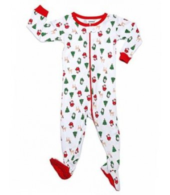 "Leveret Footed ""Christmas"" Pajama Sleeper 100% Cotton (Size 6M-5T)"