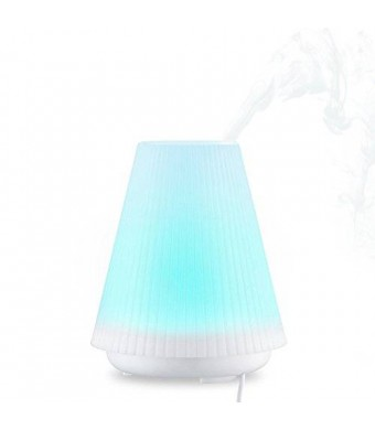 Vtin 100ml Aromatherapy Essential Oil Diffuser Air Humidifier with 7 Changing Colors and Auto Shut-off System