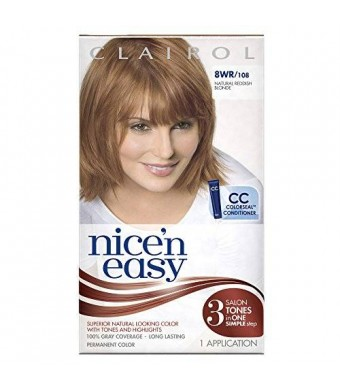 Clairol Nice 'n Easy Permanent Hair Color 8WR 108 Natural Reddish Blonde 1Kit