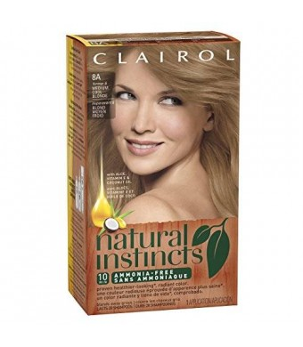 Clairol Natural Instincts Hair Color 8A former 6, Linen Medium Cool Blonde 1 Kit (Pack of 3)