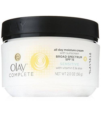 Olay Complete All Day UV Moisture Cream, SPF 15, Sensitive Skin, 2 Ounce (Pack of 3)