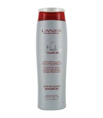 L'anza Healing Colorcare Silver Brightening Shampoo for Unisex, 10.1 Ounce