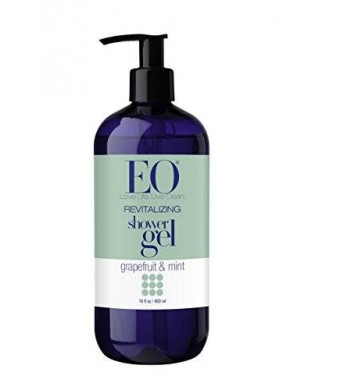 EO Shower Gel, Grapefruit and Mint, 16-Ounce Bottles (Pack of 2)