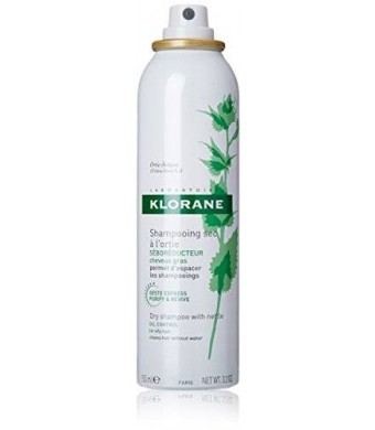 Klorane Dry Shampoo with Nettle, 3.2 oz. Aerosol