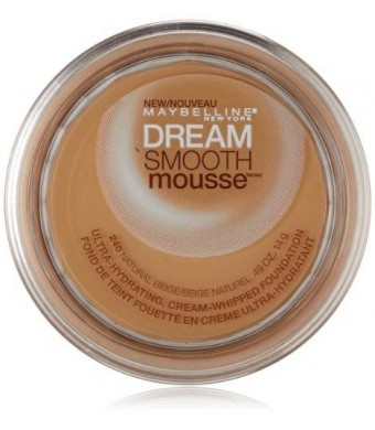 Maybeline New York Maybelline New York Dream Smooth Mousse Foundation, Natural Beige, 0.49 Ounce