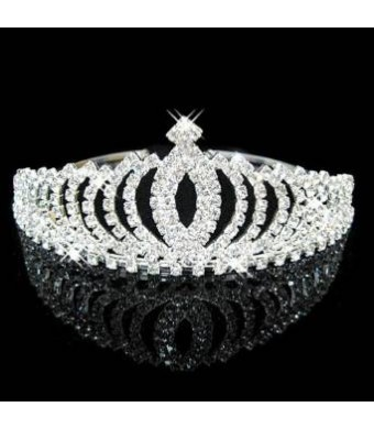 Simplicity Women's Pageant Prom Queen Crystal Rhinestones Wedding Crown Tiara