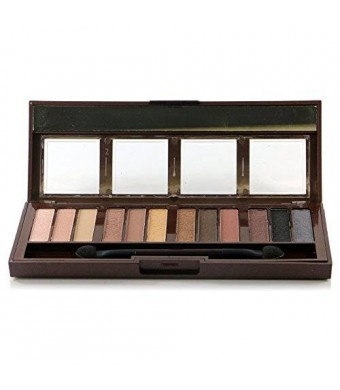 City Color Barely Exposed Eyeshadow Palette w/ Brush and Mirror #E0024