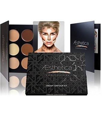 Aesthetica Cosmetics Cream Contour and Highlighting Makeup Kit - Contouring Foundation / Concealer Palette - Vegan