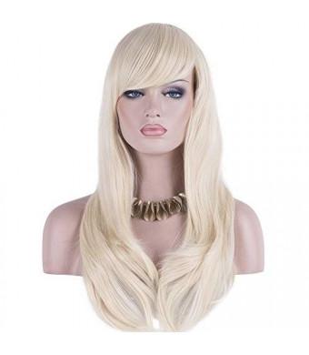 "DAOTS 28"" Wig Long Heat Resistant Big Wavy Hair Women Cosplay Wig (light blonde)"