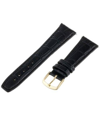 Hadley-Roma Women's LSL135RA-200 20-mm Black Alligator Grain Leather WatchStrap