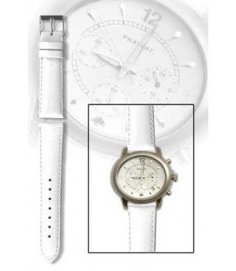 18mm White Patent Leather Watchband with Quick Release Pins Michele Style
