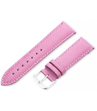 Hadley-Roma Women's LSL725RH 200 20-mm Pink Java Lizard Grain Watch Strap