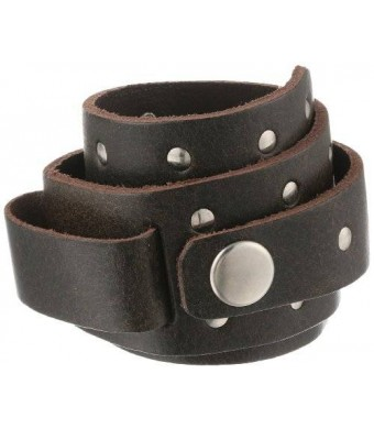 Nemesis BLS 51-mm Leather Cuff Band Long Special Cut Brown 20-22mm Lug Watch Strap