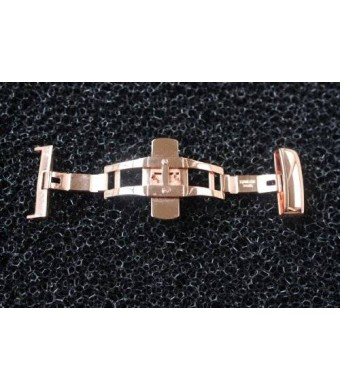 16MM Rose Gold Plated S/S Butterfly Deployment Buckle