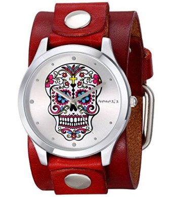Nemesis Women's 925RGB Sugar Skull Series Analog Display Japanese Quartz Red Watch