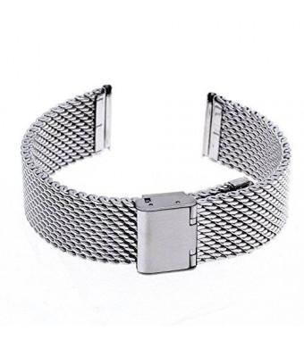 Ritche 22mm Mesh Stainless Steel Bracelet Wrist Watch Band Strap for Lg G Watch W100, W110, Urbane W150