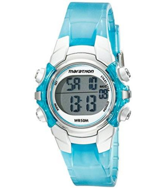 Timex Women's T5K817M6 Marathon Digital Display Quartz Blue Watch