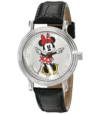 Disney Women's W001878 Minnie Mouse Analog Display Analog Quartz Black Watch