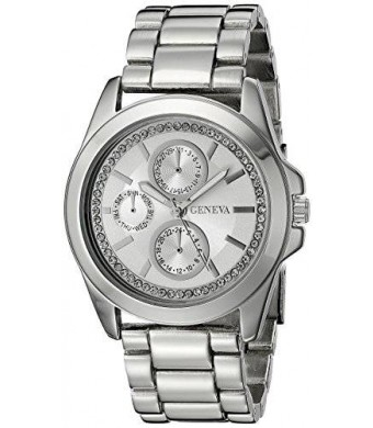 Geneva Women's FMDJM121 Analog Display Quartz Silver Watch