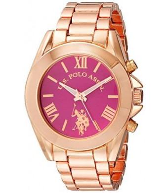 U.S. Polo Assn. Women's USC40049 Analog Display Analog Quartz Rose Gold Watch