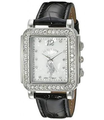 U.S. Polo Assn. Women's USC42016 Analog Display Japanese Quartz Black Watch