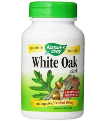 Nature's Way White Oak Bark Capsules, 480mg (100-Count)