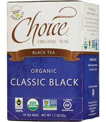 Choice Organic Classic Black Tea, 16 Count Box