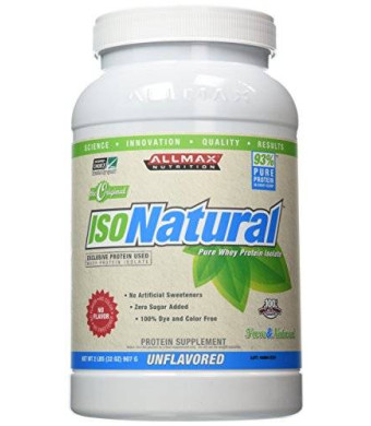 Allmax Nutrition IsoNatural Unflavored 2 Lbs