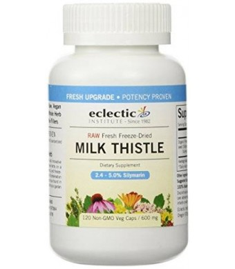 Eclectic Institute Milk Thistle Seed 600mg Freeze-Dried Organic - 120 - VegCap