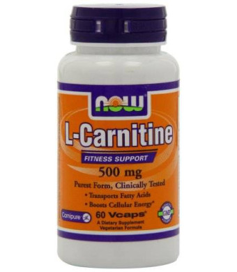 NOW Foods L-Carnitine 500mg, 60 Vcaps