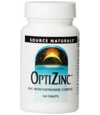 Source Naturals OptiZinc Zinc Monomethionine 30mg, 240 Tablets