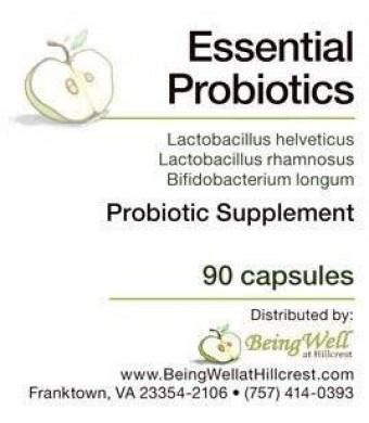 Essential Probiotics - 3 Billion Viable Microorganisms As Lactobacillus Helveticus, Lactobacillus Rhamnosus, and Bifidobacterium Longum
