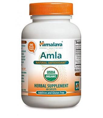 Himalaya Herbal Healthcare Himalaya Organic Amla/Amalaki, 60 Caplets for Natural Antioxidant 600mg (Pack of 2)