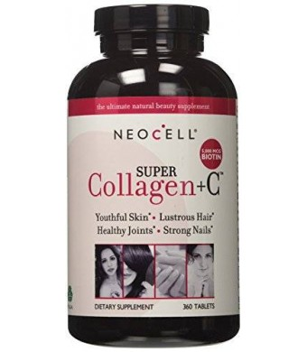 NeoCell Super Collagen Type I and III + Vitamin C - 360 Tablets