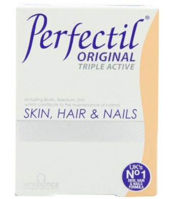 Vitabiotics, Perfectil Triple Active, Essential Nutrients for Skin, Hair and Nails, 30 Count