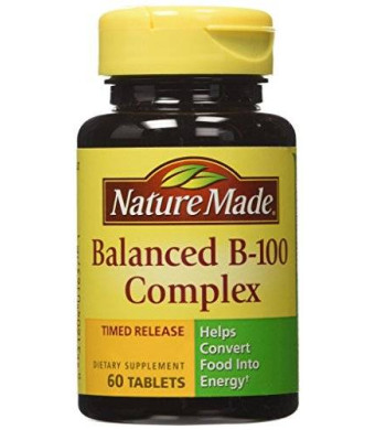 Nature Made Time-Release Balanced B-100 Complex, 60 Tablets (Pack of 3)