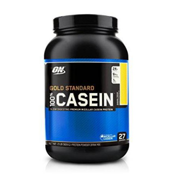 Optimum Nutrition 100% Casein Protein, Banana Cream, 2-Pounds