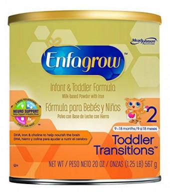 Enfagrow Toddler Transitions Infant and Toddler Formula - 20 oz Powder Can