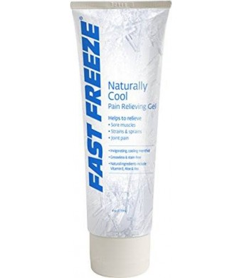 Fast Freeze Naturally Cool Pain Relieving Gel Tube, 4 fl. oz.