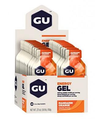 GU Energy Labs GU Original Sports Nutrition Energy Gel, Mandarin Orange, 24-Count