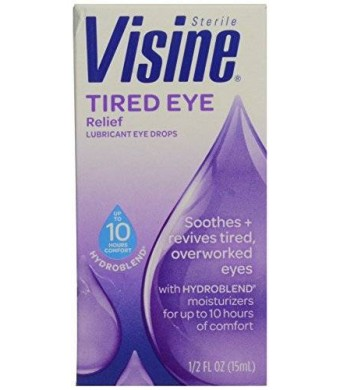 Visine Tired Eye Relief Lubricant Eye Drops-0.5 oz