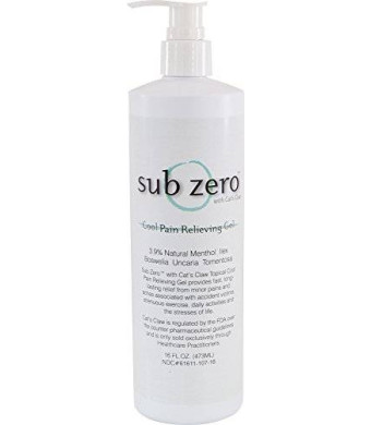 Subzero Sub zero LZ1665 Cool Pain Relieving Gel, Bottle with Pump, 16 oz, Clear