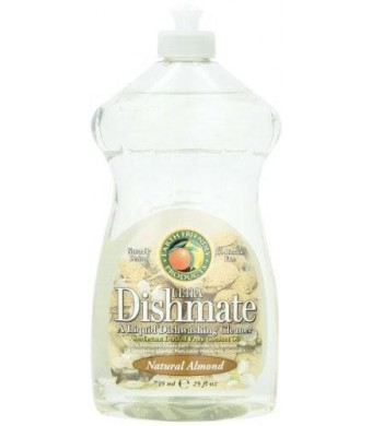 Earth Friendly Products Dishmate, Dishwashing Liquid, Natural Almond, 25-Ounce (Pack of 2)