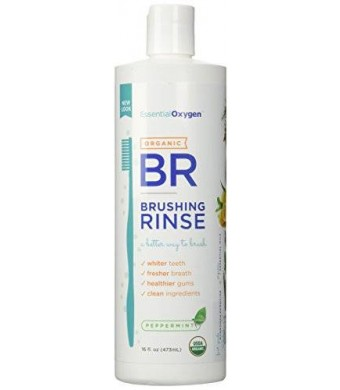 Essential Oxygen + Brushing Rinse Organic Peppermint - 16 OZ, PACK OF 3