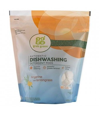 Grab Green Automatic Dishwashing Detergent, Tangerine with Lemongrass, 60 Loads
